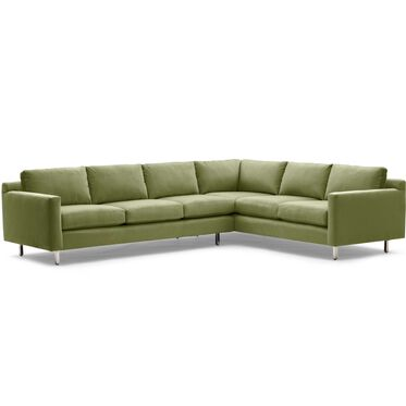 HUNTER STUDIO LEFT SECTIONAL SOFA, PIPPIN - VERDE, hi-res
