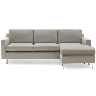 HUNTER STUDIO NO WELT 95 RIGHT CHAISE SECTIONAL, PIPPIN - STONE, hi-res