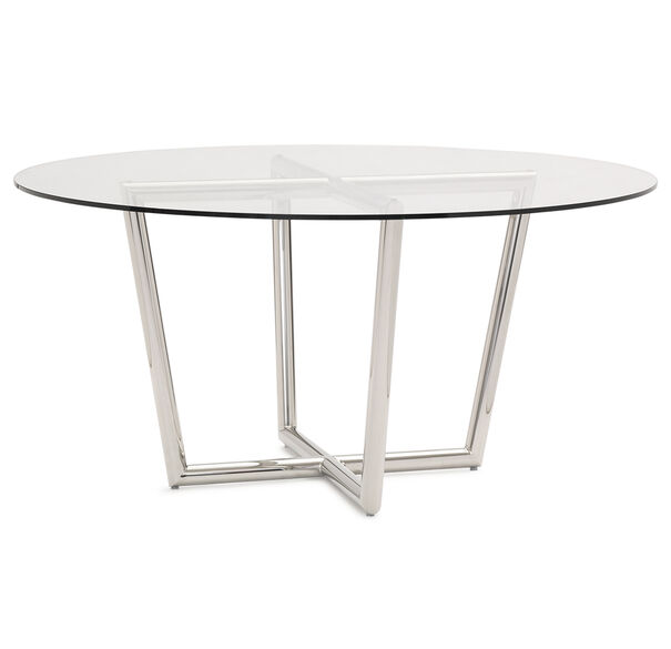 Shop Luxurious Modern Design Stainless Steel Dining Set: MODERN ROUND DINING TABLE