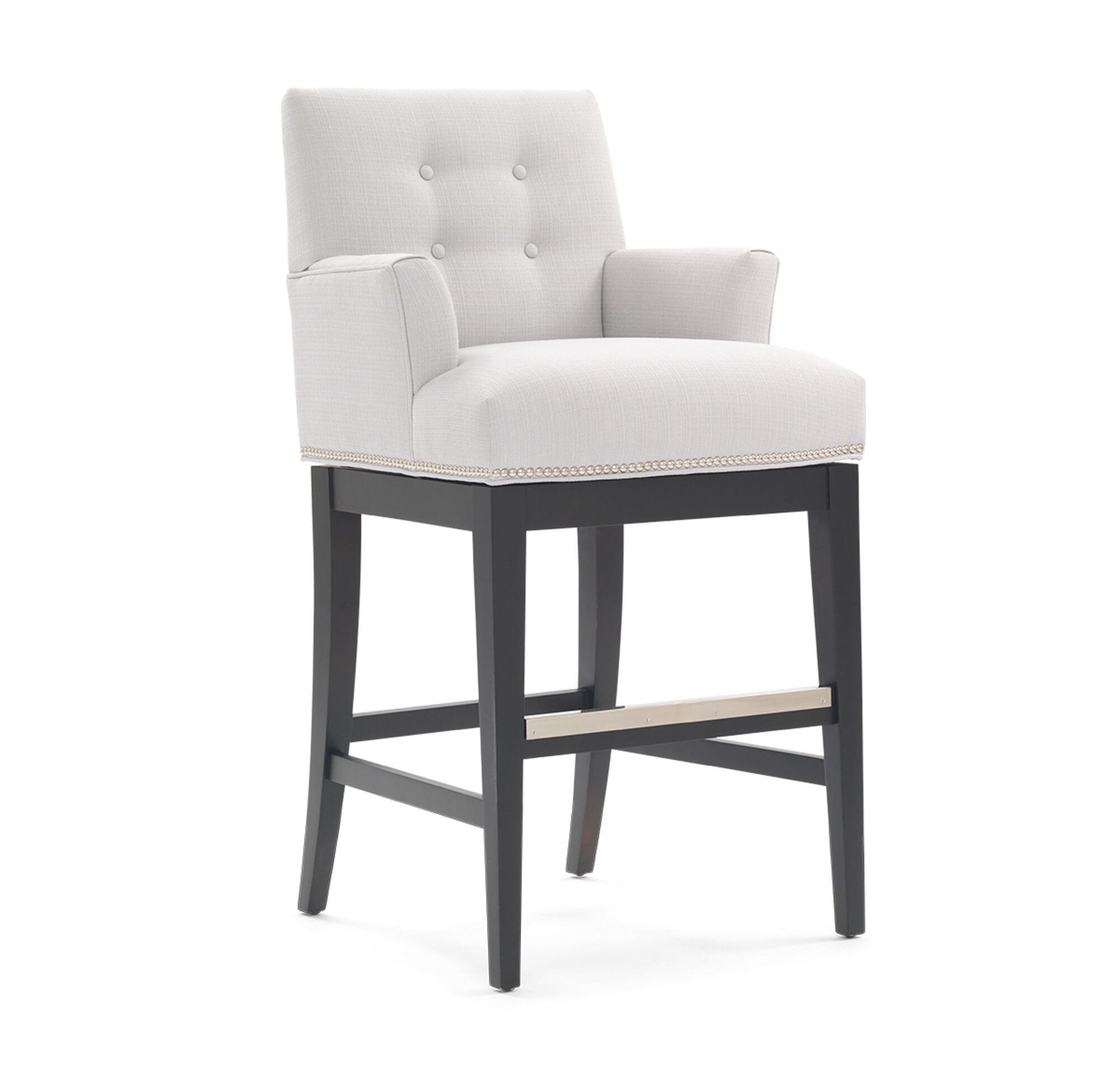 Oliver Return Swivel Bar Stool With Arms