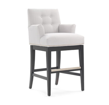 OLIVER RETURN SWIVEL BAR STOOL - WITH ARMS, , hi-res