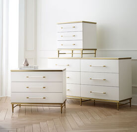 CELINE 6 DRAWER DRESSER - CREAM, , hi-res