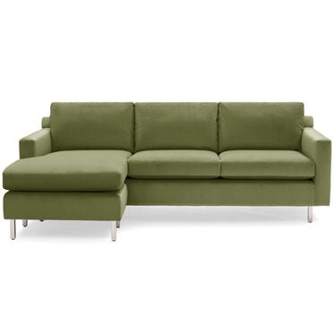 HUNTER STUDIO NO WELT 85 LEFT CHAISE SECTIONAL, PIPPIN - VERDE, hi-res