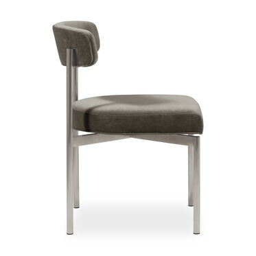 REMY DINING CHAIR - BRUSHED STAINLESS STEEL, BOULEVARD - CAFE, hi-res