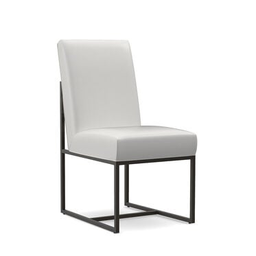 GAGE LEATHER LOW DINING CHAIR, TAHOE - WHITE, hi-res