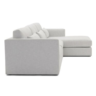 HAYWOOD RIGHT CHAISE SECTIONAL, SOL - SILVER, hi-res