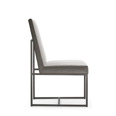 GAGE LOW DINING CHAIR - PEWTER, KOKO - STEEL, hi-res