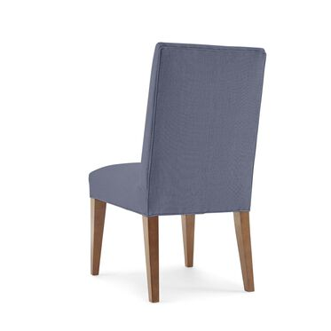 ANTHONY SIDE DINING CHAIR, Performance Textured Linen - INDIGO, hi-res