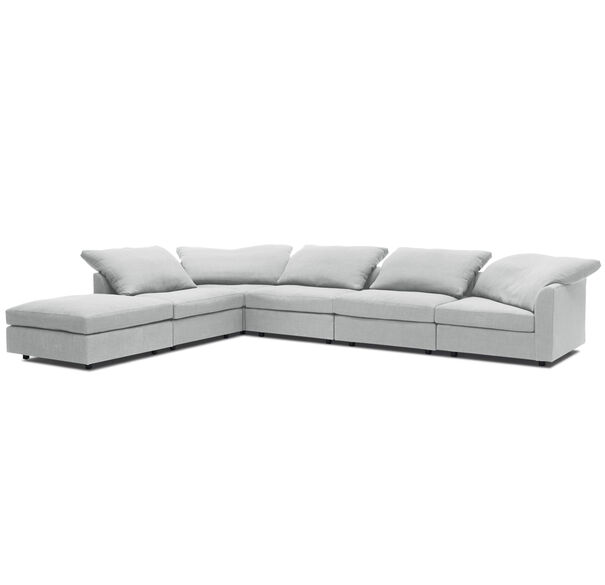 BIG EASY 6PC SECTIONAL, LINGO - SILVER, hi-res