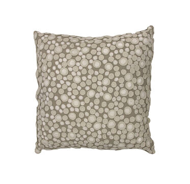 CREAM DOT PATTERN THROW PILLOW, , hi-res