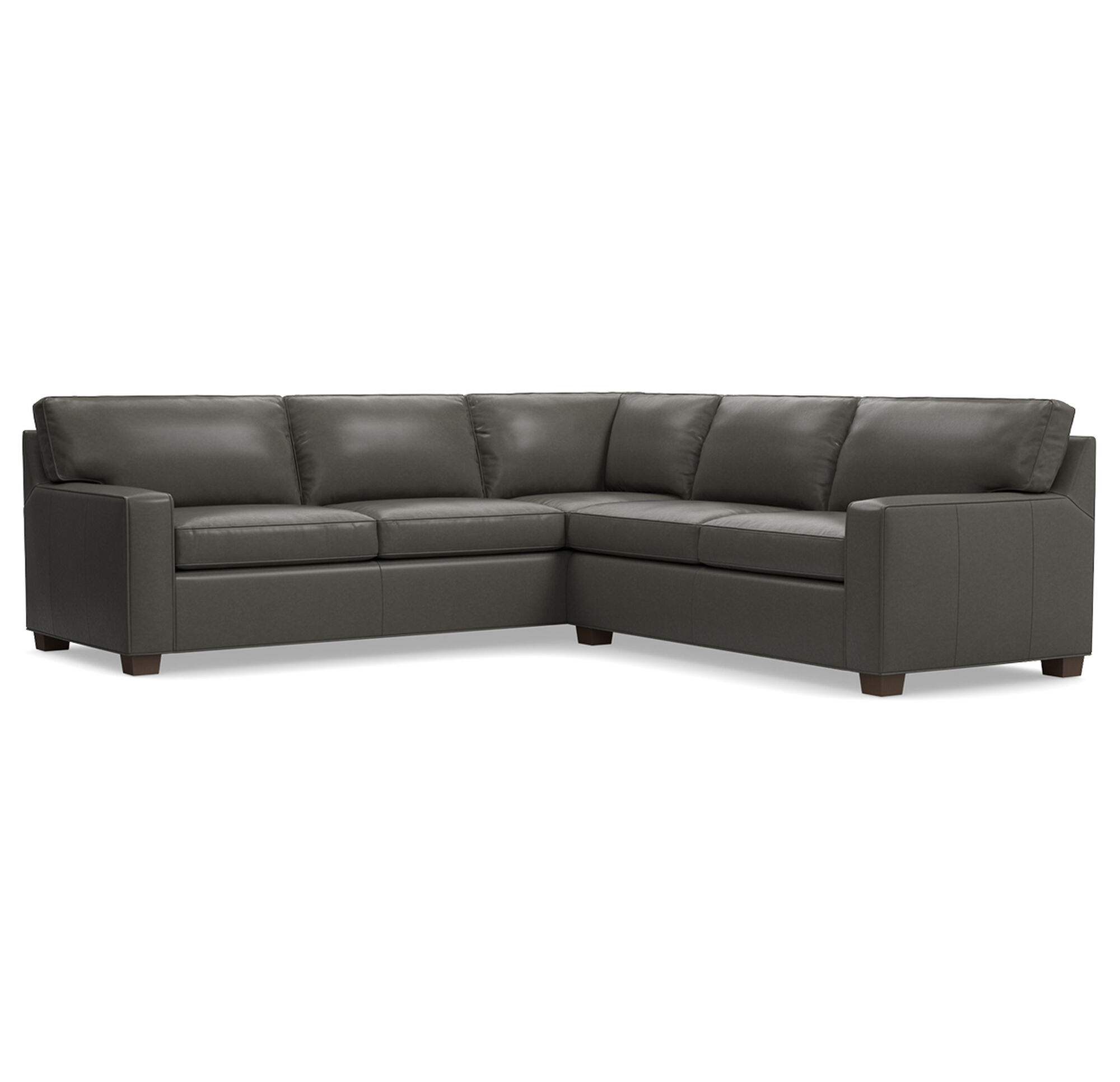 ALEX LEATHER SECTIONAL SOFA