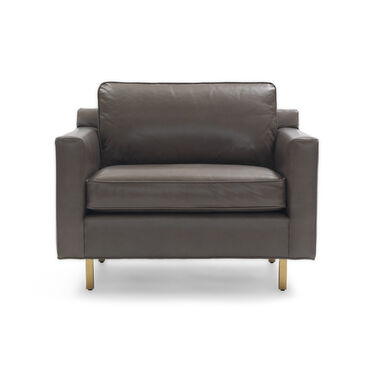 HUNTER LEATHER CHAIR, ROJO - WOLF, hi-res