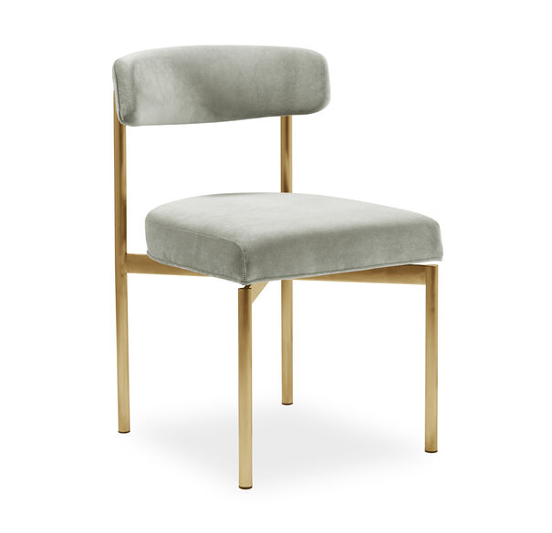 REMY DINING CHAIR - BRUSHED BRASS, , hi-res