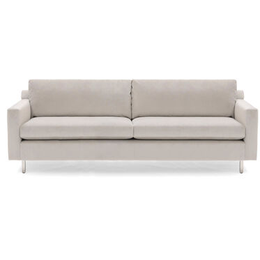 HUNTER STUDIO NO WELT SOFA, Performance Velvet Micro Cord - SILVER, hi-res
