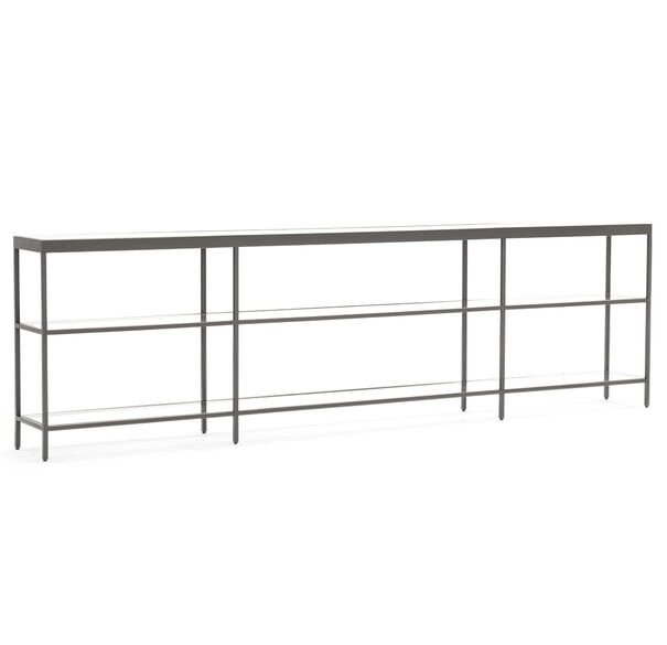 VIENNA LOW BOOKCASE EXTRA LARGE - PEWTER, , hi-res