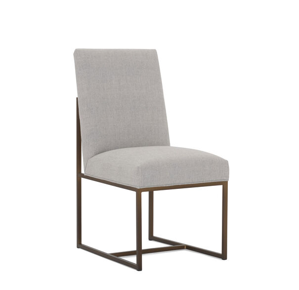 GAGE LOW DINING CHAIR, COSTA - SILVER, hi-res