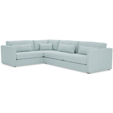 HAYWOOD RIGHT ARM SECTIONAL, SOL - SKY BLUE, hi-res