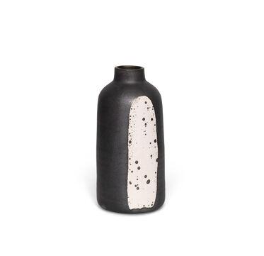 BLACK METALLIC & WHITE VASE, , hi-res