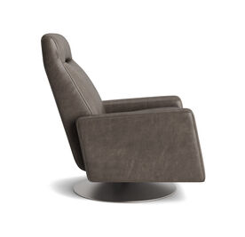 TILTON LEATHER RECLINER, Mont Blanc - Italian Leather - Wolf, hi-res