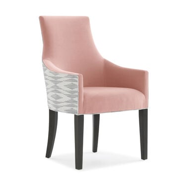 ADA ARM DINING CHAIR, Performance Micro Velvet - BLUSH, hi-res