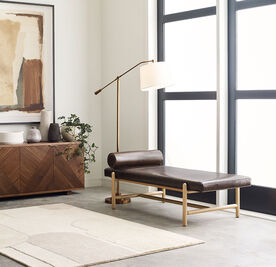 FINN LEATHER DAYBED, MONT BLANC - SPANISH MOSS, hi-res