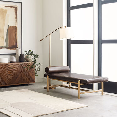 FINN LEATHER DAYBED, , hi-res