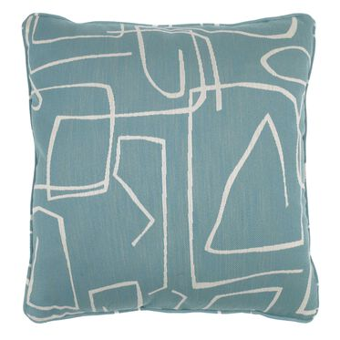 21 IN. SQUARE THROW PILLOW, SHILO - AGEAN, hi-res