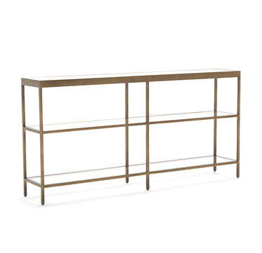 VIENNA LOW BOOKCASE MEDIUM - ANTIQUE BRASS, , hi-res