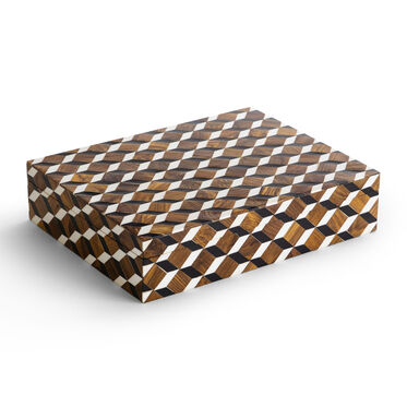 CHECKERED LARGE BOX, , hi-res