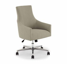 ADA DESK CHAIR, Tone on Tone Chenille - TAUPE, hi-res