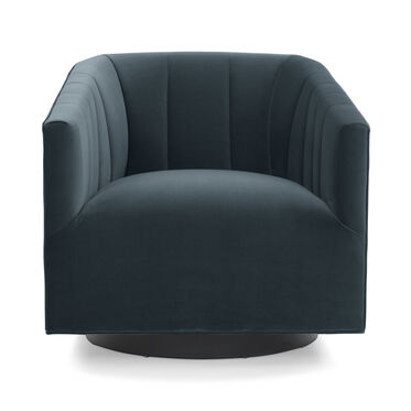 COOPER CHANNEL TUFTED SWIVEL CHAIR, VIVID - AZURE, hi-res