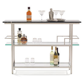 MARQUIS BLACK MARBLE BAR - POLISHED STAINLESS STEEL, , hi-res