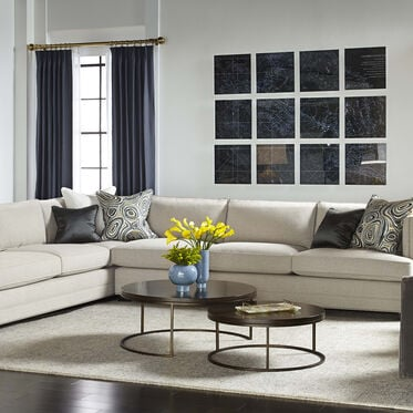 KEATON SHELTER RIGHT ARM SECTIONAL CLASSIC DEPTH WITH NAILHEAD, FULMER - LINEN, hi-res