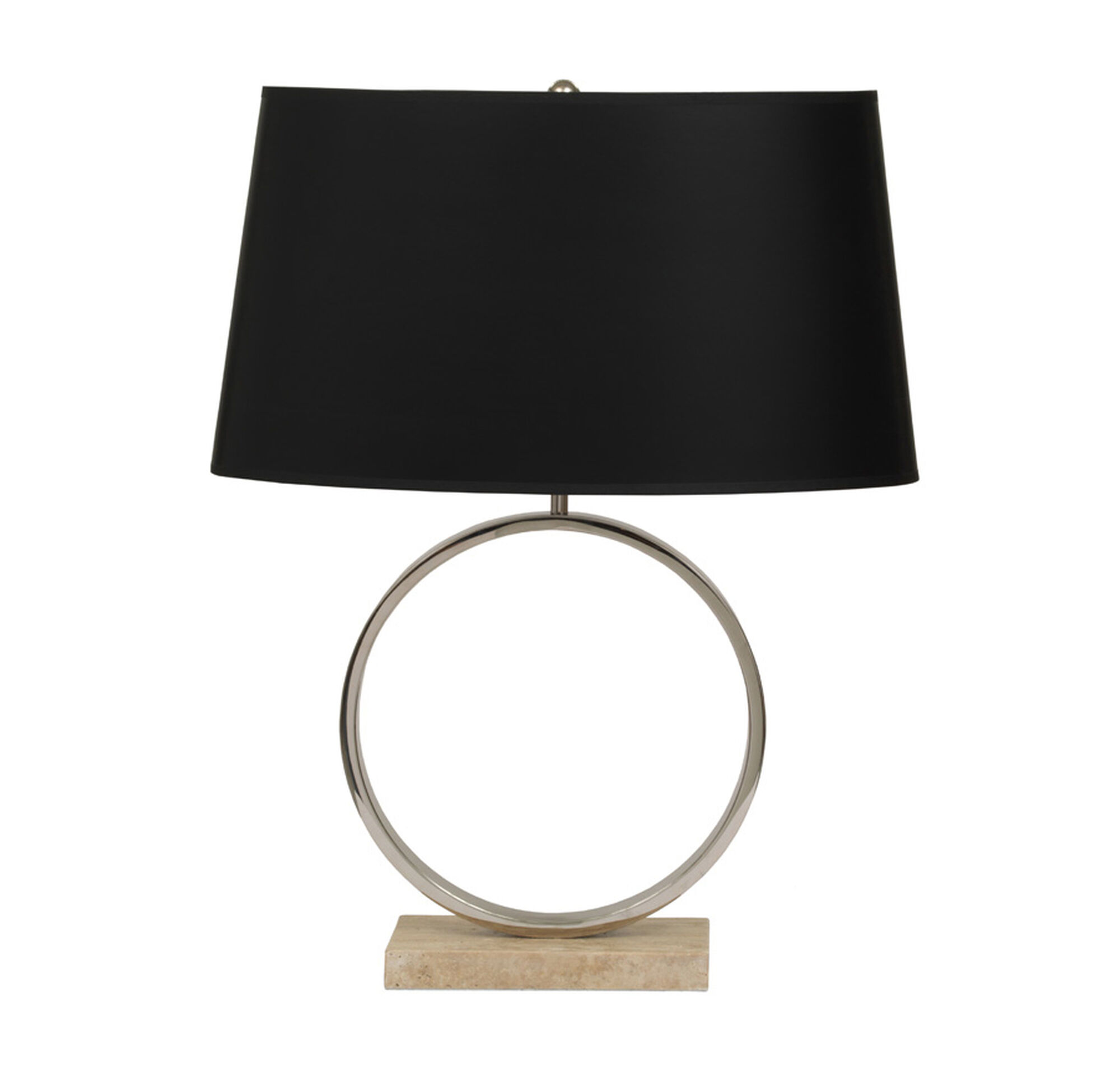 Marco table lamp polished nickel with black shade aloadofball Image collections