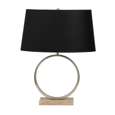 MARCO TABLE LAMP - POLISHED NICKEL WITH BLACK SHADE, , hi-res