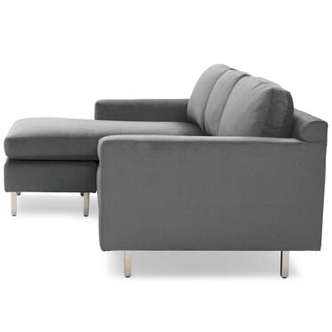 HUNTER STUDIO NO WELT 85 LEFT CHAISE SECTIONAL, PIPPIN - CHARCOAL, hi-res