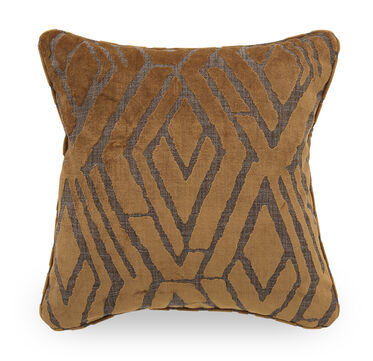 22 IN. SQUARE THROW PILLOW, WARWICK - AMBER, hi-res