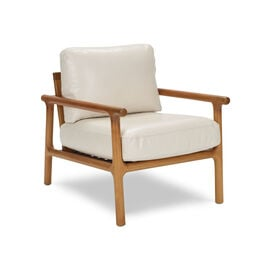 LAGUNA LEATHER CHAIR, MONT BLANC - IVORY, hi-res