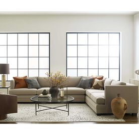 KEATON SHELTER LEFT ARM SECTIONAL CLASSIC DEPTH WITH NAILHEAD, Tone on Tone Chenille - TAUPE, hi-res