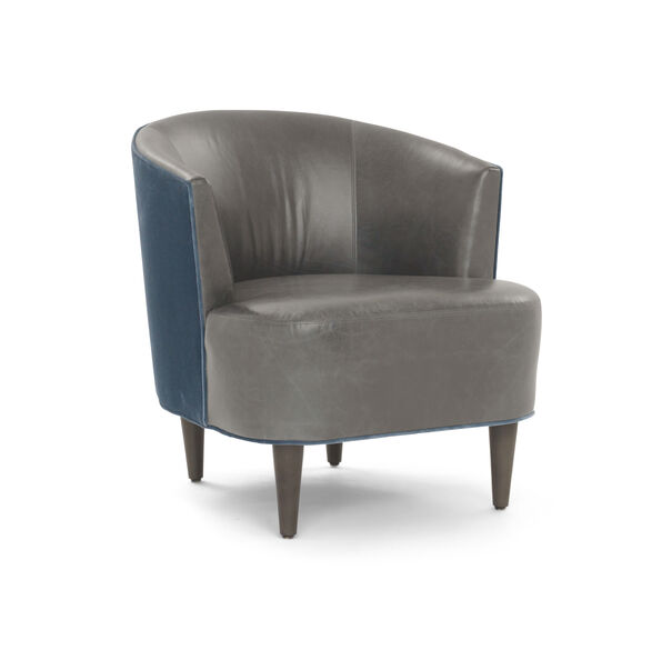 COSTELLO LEATHER CHAIR, MONT BLANC - WOLF, hi-res