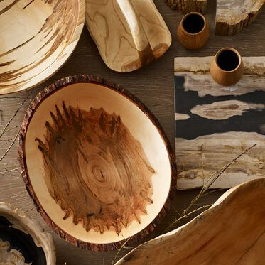 SPALTED MAPLE LIVE EDGE BOWL, , hi-res