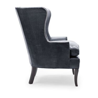 WILL LEATHER CHAIR, MONT BLANC - BLUE SMOKE, hi-res