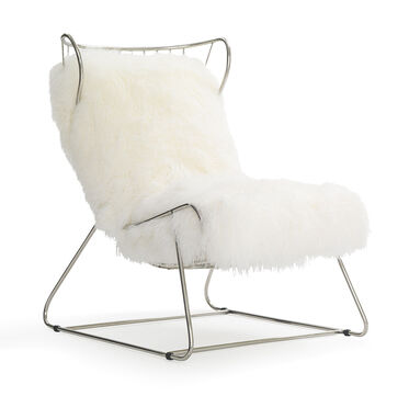 ENZO CHAIR - WHITE WITH POLISHED STAINLESS STEEL, , hi-res