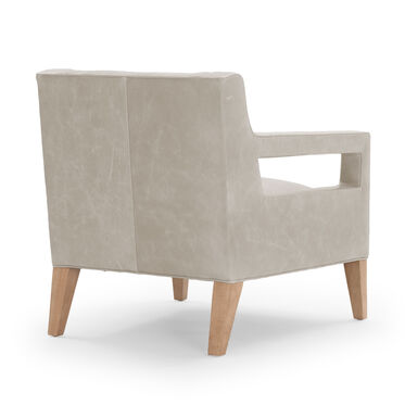 DUKE LEATHER CHAIR, MONT BLANC - IVORY, hi-res