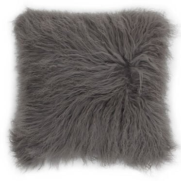 TIBETAN WOOL SILVER 20 IN. SQUARE THROW PILLOW, , hi-res