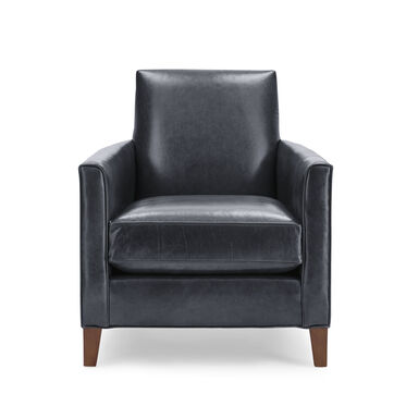 AIDEN LEATHER CHAIR, MONT BLANC - BLUE SMOKE, hi-res