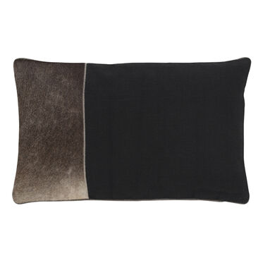 COLOR BLOCK HIDE THROW PILLOW, , hi-res