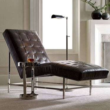 MAJOR LEATHER CHAISE, TUSCANY - GREY SLATE, hi-res