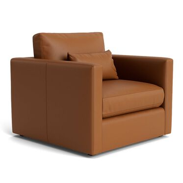 HAYWOOD LEATHER CHAIR, Performance - Tribeca Italian Leather - CHESTNUT, hi-res