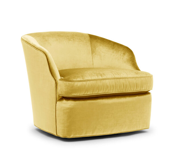 ARIES RETURN SWIVEL CHAIR, EVERSON - CANARY, hi-res